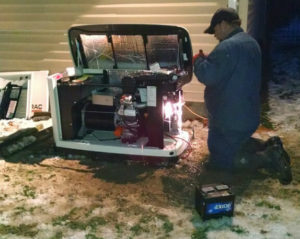 emergency generator installation